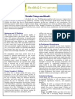 Climate Change and Health Fact Sheet