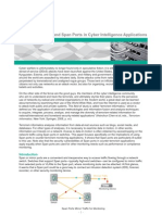 Whitepaper - Use of Taps and Span Ports in Cyber Intelligence Applications