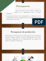 Presupuesto de producción meta óptima de productos, planeación de producción y ventas