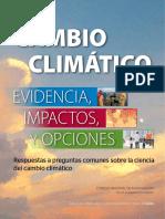 Cambio Climatico Evidencia Impactos y Opciones