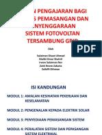 Bahan Pengajaran Kursus Pemasangan & Penyenggaran Sistem Fotovoltan Tersambung Grid.pdf