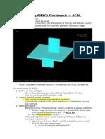 Understanding ANSYS Workbench via Eccentric Column