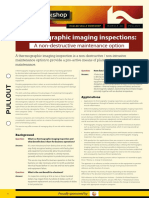 Thermographic imaging inspections