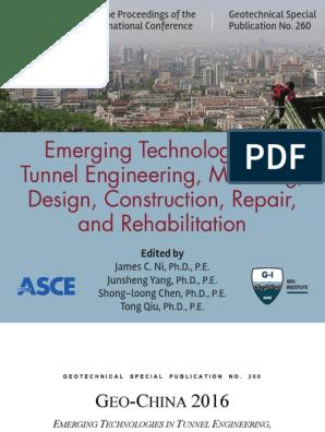 Asce 7690 9780784480038 Tunnel Deep Foundation