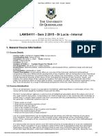 LAWS4111 Jurisprudence UQ