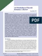 Peripheral Metabolism of Thyroid Hormones