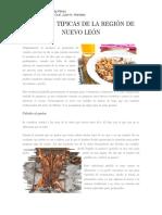 Comidas Tipicas de La Región de Nuevo León