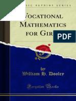 Vocational Mathematics for Girls