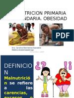 Clase 13 - Malnutricion Primaria y Secundaria- Obesidad