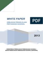WHITE PAPER Kebijkn Pertanahan Bpennas