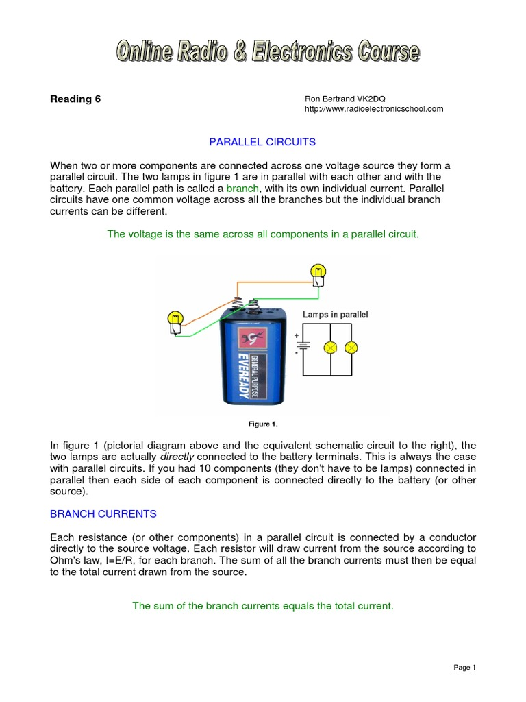 06 Parallel Circuits Series And Resistor Voltage Current Resistance In