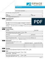 Tenancy Application 2015