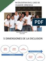 Inclusion Educativa en El Caso de Ecuador 1999 2014