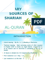 Primary Sources of Shariah