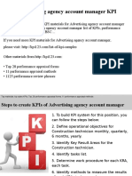 Advertising Agency Account Manager KPIs
