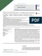 Diagnostic Criteria for Malnutrition e an ESPEN Consensus Statement