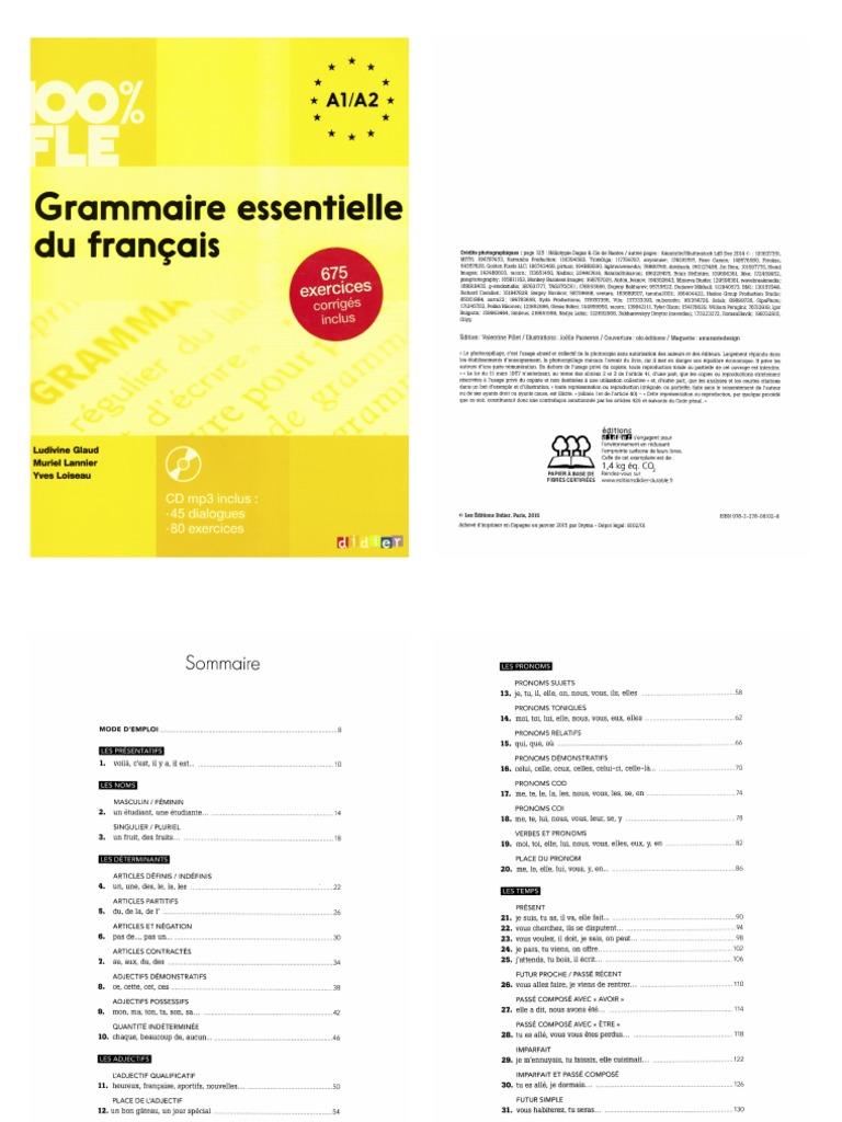 Grammaire Essentielle A1 A2