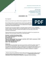 Assessment Fee Konto 2016