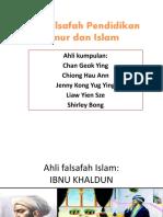 Ahli Falsafah Pendidikan Timur Dan Islam(PKK)
