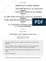 Liberian Carriers, Inc., Libellant-Appellant v. Tampa Ship Repair & Dry Dock Co., Inc., Tampa Ship Repair & Dry Dock Co., Inc., Libellant-Appellee v. S.S. The Alpha and Liberian Carriers, Inc., Tampa Ship Repair & Dry Dock Co., Inc. v. R. J. Chianelli, and J. F. Swenson, 301 F.2d 462, 2d Cir. (1962)