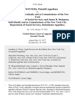 Miriam Winters v. Abe Lavine, Individually and as Commissioner of the New York State Department of Social Services, and James R. Dumpson, Individually and as Commissioner of the New York City Department of Social Services, 574 F.2d 46, 2d Cir. (1978)