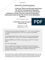 Irving Ornstein v. James F. Regan, Chairman, Board of Education Retirement System of the City of New York, Board of Education Retirement System of the City of New York, and Joseph Antionette, Executive Secretary, Board of Education, Retirement System of the City of New York, 574 F.2d 115, 2d Cir. (1978)