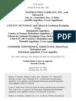 Schiavone Construction Company, Inc., and Edward B. Fitzpatrick, Jr., Associates, Inc., a Joint Venture, Cross-Appellants v. County of Nassau and Gibson & Cushman Dredging Corp., County of Nassau, Cross-Appellee, Gibson & Cushman Dredging Corp., County of Nassau, and Third-Party Cross-Appellee v. Consoer, Townsend & Associates, Third-Party and Cross-Appellee, 717 F.2d 747, 2d Cir. (1983)
