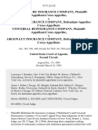 Bellefonte Re Insurance Company, Plaintiff-Appellant-Cross-Appellee v. Argonaut Insurance Company, Defendant-Appellee-Cross-Appellant. Universal Reinsurance Company, Plaintiff-Appellant-Cross-Appellee v. Argonaut Insurance Company, Defendant-Appellee-Cross-Appellant, 757 F.2d 523, 2d Cir. (1985)