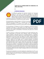 Aspectos Destacados de Las Operaciones en Venezuela de La Royal Dutch Shell