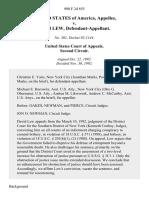United States v. David Lew, 980 F.2d 855, 2d Cir. (1992)