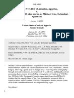 United States v. Michael Colavito, Also Known as Michael Cole, 19 F.3d 69, 2d Cir. (1994)