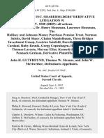 In Re Salomon Inc. Shareholders' Derivative Litigation 91 Civ. 5500 (Rrp)