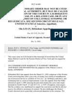 United States v. Ola Litan, 99 F.3d 400, 2d Cir. (1995)