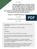 Panthong Praseuth v. Thomas C. Werbe, 99 F.3d 402, 2d Cir. (1995)