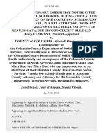 Henry Casivant v. County of Columbia Mitchell Oxehnhorn, as Commissioner of the Columbia County Department of Social Services Nan Hermus, Individually and as Director of Social Services of the Columbia County Department of Social Services Roland Barth, Individually and as Employee of the Columbia County Department of Social Services John Hallenbeck John Doe, Mary Roe, and Mary Doe, Who Are Employees, Not as Yet Identified, of the Columbia County Department of Social Services Pamela Joern, Individually and as Assistant County Attorney and Attorney for the Columbia County Department of Social Services, 101 F.3d 682, 2d Cir. (1996)