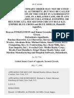 Empire Blue Cross and Blue Shield v. Reuven Finkelstein and Simon Greenbaum, A/K/A Simon Green, Pinchus Horowitz Levi Horowitz Steven Stone Barbara Wexler, Abraham Brin Michael Klein Simon Green Kcg Computing, Inc. G. Contracting, Inc. Kent Mills, Inc. East Imports, Inc. Avrechai Gur Medin Realty Corp. Bredis Food Handlers Zeigel Manor Realty Sales and Mardon Manufacturing and Hospital Software, 101 F.3d 684, 2d Cir. (1996)
