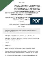 Sylvester O. Abidekun v. Department of Housing Preservation & Development, 104 F.3d 352, 2d Cir. (1996)