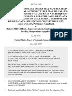 Louis Colon v. Robert Mitchell, Superintendent, Eastern Correctional Facility, 108 F.3d 1369, 2d Cir. (1997)
