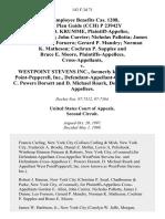 22 Employee Benefits Cas. 1208, Pens. Plan Guide (Cch) P 23942y Robert D. Krumme, Gordon E. Allen John Currier Nicholas Pallotta James J. Dunne Leo Fornero Gerard P. Mandry Norman K. Matheson Cochran P. Supplee and Bruce E. Moore v. Westpoint Stevens Inc., Formerly Known as West Point-Pepperell, Inc., Defendant-Appellant-Cross-Appellee, C. Powers Dorsett and D. Michael Roark, Defendants-Cross-Appellees, 143 F.3d 71, 2d Cir. (1998)