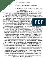 United States v. Wadih El-Hage, Also Known as Abdus Sabbur, Fazul Abdullah Mohammed, Also Known as Harun Fazhl, Also Known as Fazhl Abdullah, Also Known as Fazhl Khan, Mohamed Sadeek Odeh, Also Known as Abu Moath, Also Known as Noureldine, Also Known as Marwan, Also Known as Hydar, Mohamed Rashed Daoud Al-Owhali, Also Known as Khalid Salim Saleh Bin Rashed, Also Known as Abdul Jabbar Ali Abel-Latif, Usama Bin-Laden, Also Known as Usamah Bin-Muhammad Bin-Ladin, Also Known as Shaykh Usamah Bin-Ladin, Also Known as Mujahid Shaykh, Also Known as Hajj, Also Known as Al Qaqa, Also Known as Director, Muhammad Atef, Also Known as Abu Hafs, Also Known as Abu Hafs El Masry, Also Known as Taysir, Also Known as Aheikh Taysir Abdullah, Mustafa Mohamed Fadhil, Also Known as Mustafa Ali Elbishy, Also Known as Hussein, Also Known as Hassan Ali, Khalfan Khamis Mohamed, Also Known as Khalfan Khamis, Ahmed Khalfan Ghailani, Also Known as Fupi, Also Known as Abubakary Khalfan Ghailiani, Fahid Mohammed Msa