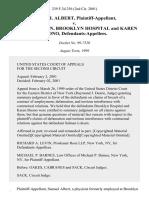 Samuel Albert v. Salmen Loksen, Brooklyn Hospital and Karen Buono, 239 F.3d 256, 2d Cir. (1999)