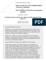 General Electric Company and Subsidiaries v. Commissioner of Internal Revenue, 245 F.3d 149, 2d Cir. (2001)