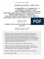 Anthony D. Amaker v. Foley, C.O., Fleckerstein, C.O., Monin, Sgt., G. Strubbel, Connors, C.O., Being Sued Individually and in Their Official Capacities for Violation of Plaintiff's Constitutional Rights, - Zon, Supt. Deputy, Donnelly, Supt. Deputy, Walter R. Kelly, Supt., Sugg, C.O., 274 F.3d 677, 2d Cir. (2001)