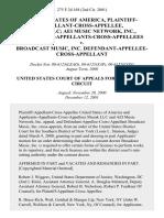 United States of America, Plaintiff-Appellant-Cross-Appellee, Muzak LLC Aei Music Network, Inc., Applicants-Appellants-Cross-Appellees v. Broadcast Music, Inc. Defendant-Appellee-Cross-Appellant, 275 F.3d 168, 2d Cir. (2001)