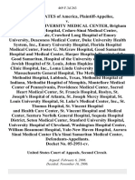 United States v. The Baylor University Medical Center, Brigham and Women's Hospital, Cedars-Sinai Medical Center, Cleveland Clinic, Crawford Long Hospital of Emory University, Deaconess Medical Center, Duke University Health System, Inc., Emory University Hospital, Florida Hospital Medical Center, Foster G. McGraw Hospital, Good Samaritan Hospital and Medical Center, Harper Hospital, Hospital of the Good Samaritan, Hospital of the University of Pennsylvania, Jewish Hospital of St. Louis, Johns Hopkins Hospital, Lahey Clinic Hospital, Inc., Loma Linda University Medical Center, Massachusetts General Hospital, the Methodist Hospital, Methodist Hospital, Lubbock, Texas, Methodist Hospital of Indiana, Methodist Hospital of Memphis, Montefiore Medical Center of Pennsylvania, Providence Medical Center, Sacred Heart Medical Center, St. Francis Hospital, Roslyn, St. Joseph's Hospital of Atlanta, St. Joseph Mercy Hospital, St. Louis University Hospital, St. Luke's Medical Center, Inc., St. Thom
