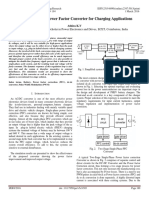 Single Stage High Power Factor Converter for Charging Applications