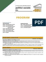 Program Final Cercetare si Politici Sociale