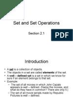 Sets and Set Operations Dalesandro