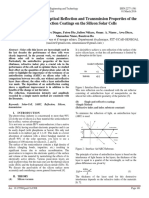 Simulation Study of Optical Reflection and Transmission Properties of the Anti-Reflection Coatings on the Silicon Solar Cells