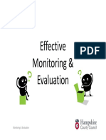 Monitoring Evaluation
